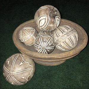 Other - Bowl with Wooden Balls